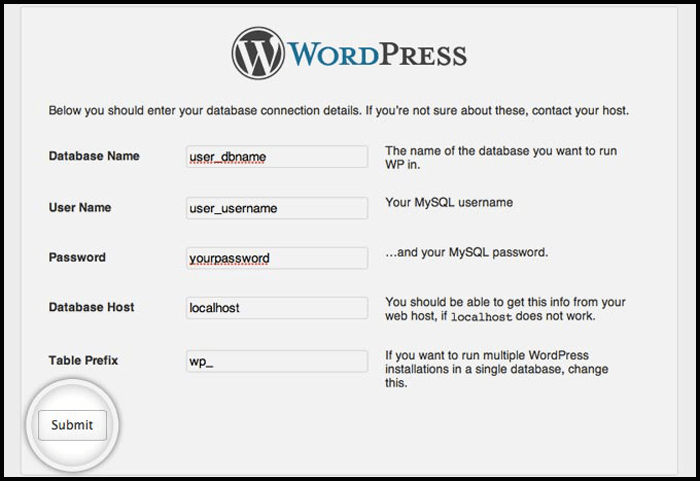 Manual Install WordPress Database