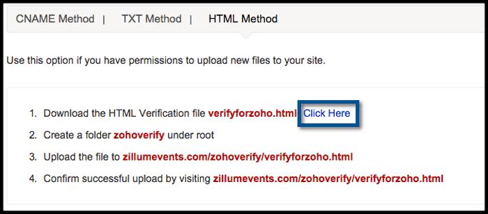 zohomail html